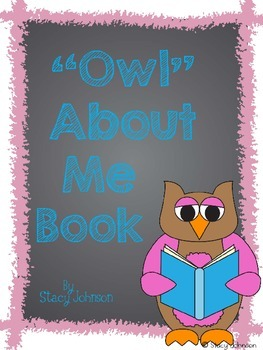 {Owl} About Me Book - FREEBIE