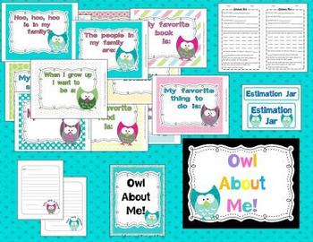 Owl About Me Bulletin Board and More