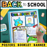 Back to School Activities: All About Me Posters: Owl Theme