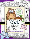 Owl About Me Printable Journal
