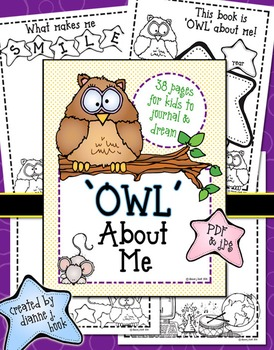 Owl About Me Printable Journal