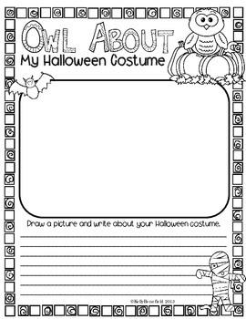 Halloween Activities: Owl About My Halloween Posters