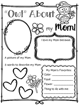 Owl About My Mom (or Dad) Mother's Day & Father's Day Organizer FREEBIE!