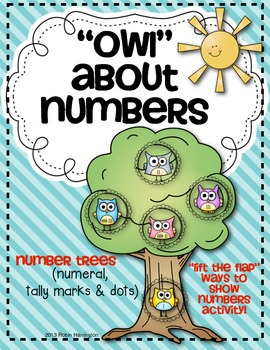 """""""Owl"""" About Number Trees {Numeral, Dot and Tally Marks} """"Lift the Flap"""" Math"""