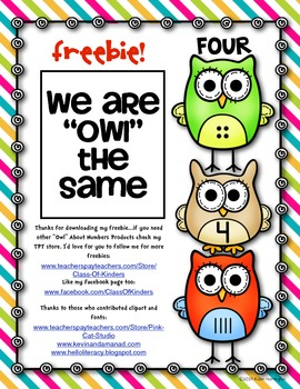 "{FREEBIE} ""Owl"" About Numbers! Math Work Page"