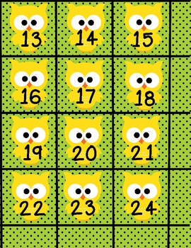 Owl About Owls Calendar Numbers and Facts