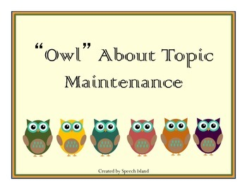 Owl About Topic Maintenance