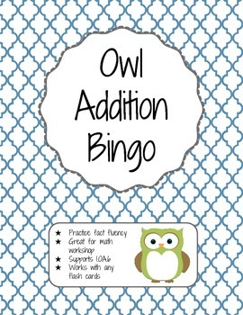 Owl Addition Bingo