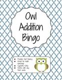 Owl Addition Bingo