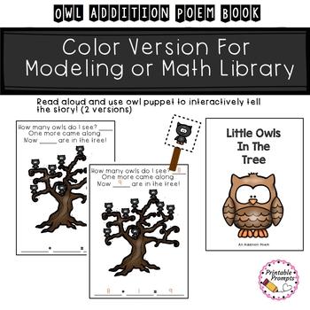 Owl Addition Math Reader
