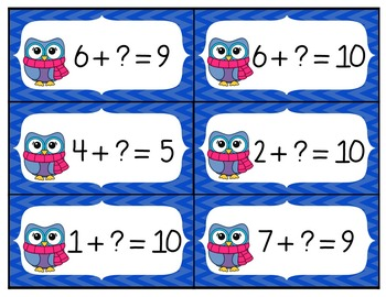 Owl Addition Facts to 10