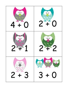 Owl Addition Facts to Five