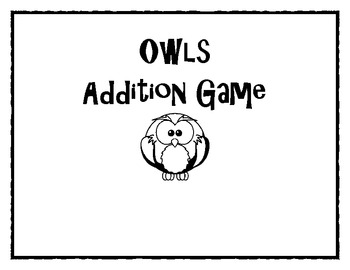 Owl Addition Game