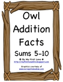 Owl Addition Sorting: Sums 5-10