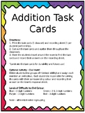 Owl Addition Task Cards Game