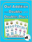 Doubles Addition & Doubles Plus One - Owl Theme - Doubles Facts