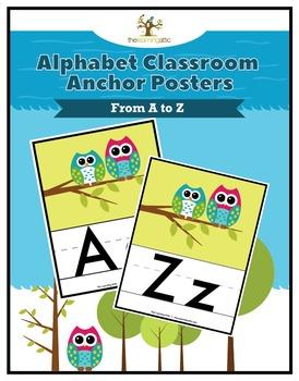 Owl Alphabet Anchor Posters A-Z