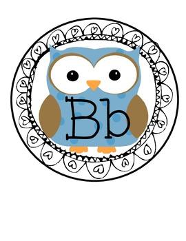 Owl Alphabet Cards