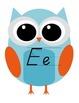 Owl Alphabet Cards D'Nealian with Arrows