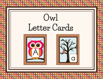 Owl Alphabet Cards and Charts (D'Nealian and Zaner-Bloser