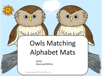 Owl Alphabet Matching Mats