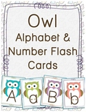 Owl Alphabet & Number Flash Cards