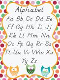 Owl Alphabet Poster