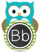 Owl Alphabet Posters-Chevron