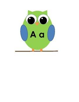 Owl Alphabet Strip