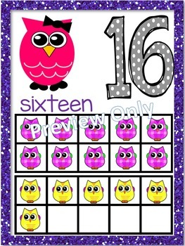 Owl Alphabet and Number Posters - Bundle