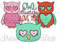 Owl Always Love You Digital Clip Art Set