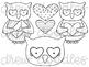 Owl Always Love You Digital Clip Art Set- Black Line Version