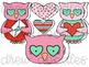 Owl Always Love You Digital Clip Art Set- Color and Black Line COMBO
