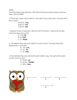 Owl Always Love Your Proportion Sheet
