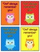 Owl Always Remember You, Gift Tag for Teachers & Students,
