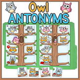 Antonyms File Folder Game - Owl Theme