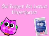 Owl Art Lesson for Kindergarten