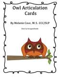 Owl Articulation Cards