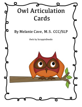 Owl Articulation Cards