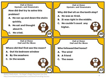 Owl at Home by Arnold Lobel 2nd Grade or 1st Grade Book Study Companion