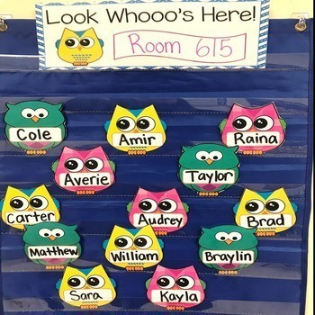 Owl Attendance Display ~ Look Who's Here ~ Name Cards