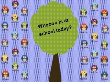 Owl Attendance for the SMARTBoard