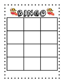 Owl BINGO Board