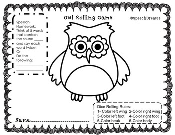 Owl Speech Therapy Unit {Crafts Games Activities for Speech Therapy}