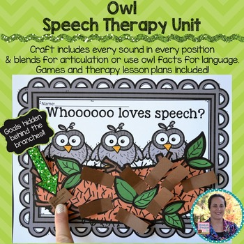 Owl Speech Therapy Unit {Crafts Games Activities for Speec