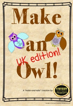 Owl Babies! Template formatted for A4 UK and Australia