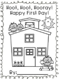 Owl Back To School Booklet: Hoot, Hoot, Hooray! Happy First Day!
