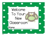 Owl Back to School First Day Work
