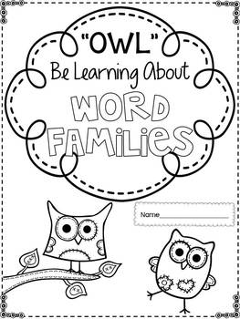 """Owl"" Be Learning About Word Families {A Word Families Booklet}"