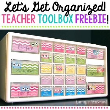 Teacher Toolbox Labels Freebie {Colorful Owls Edition}
